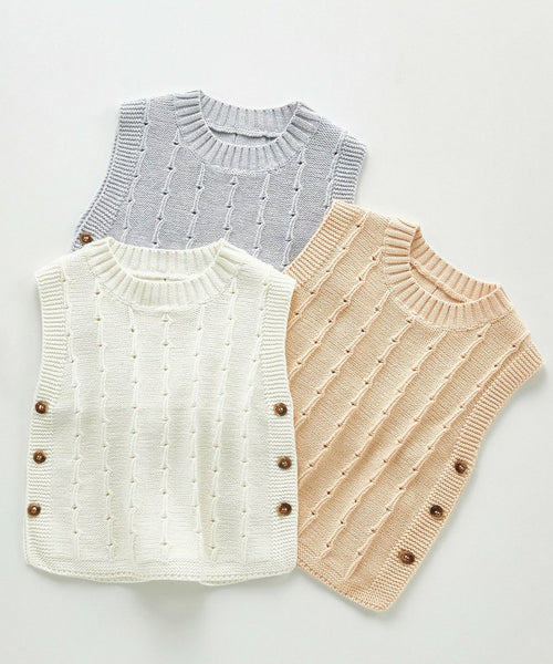 Infant Knitted Sweater Vest - Unisex Yo Baby India