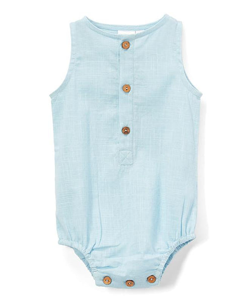 Infant Sleeveless Romper - Sky Blue Dress Yo Baby Wholesale