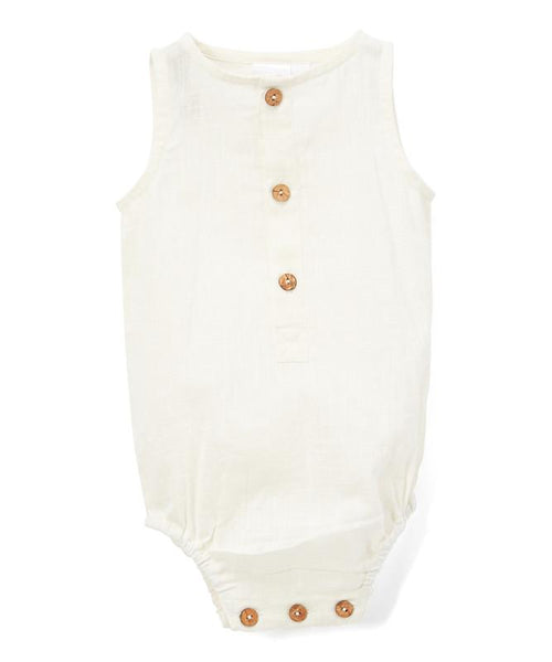 Infant Sleeveless Romper - Unisex romper Yo Baby Wholesale