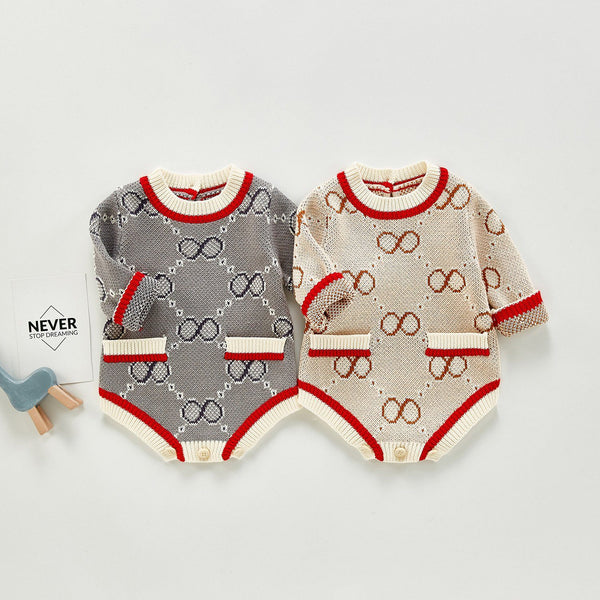 Infinity Print Infant Sweater Romper - Unisex Yo Baby India