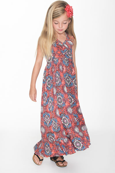 Kaleidoscope Inspired Print Maxi Dress Dress Yo Baby Wholesale