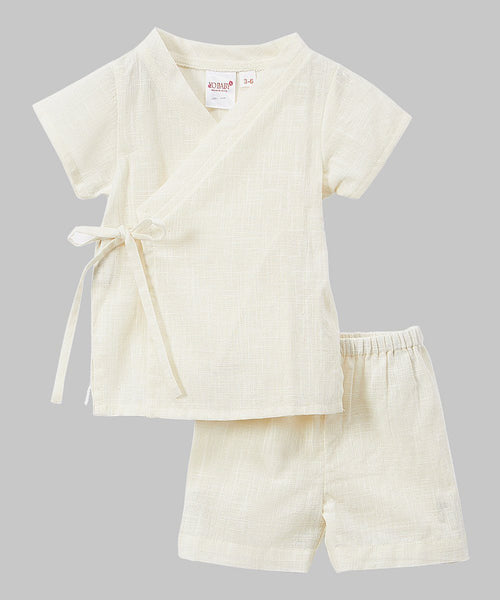 Kimono -Style Ivory 2 Piece set - Newborn/Infant Boys Yo Baby Wholesale