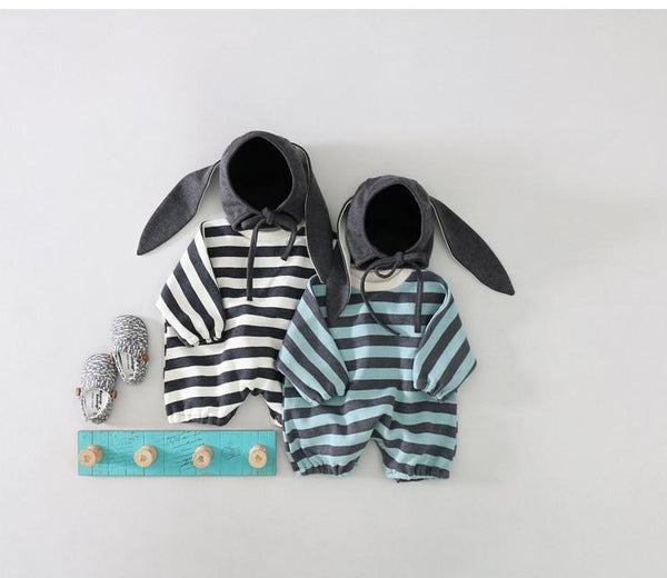 Knit Romper & Bunny Hat Set - Unisex Yo Baby India