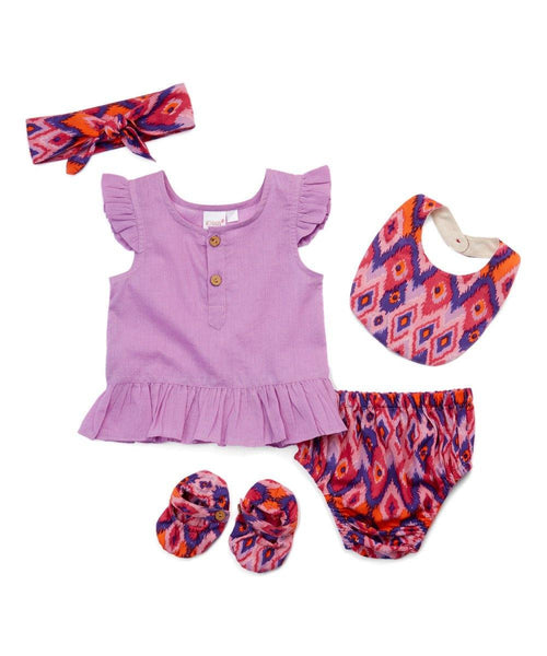 Lavender Ikat Print 5 pc. Set 5-pc. Set Yo Baby Wholesale