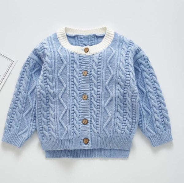 Limited Edition-Blue Unisex Knitted Sweater Dress Yo Baby Wholesale