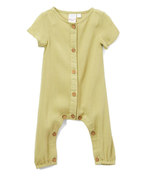 Parrot Green Unisex Infant Romper romper Yo Baby Wholesale