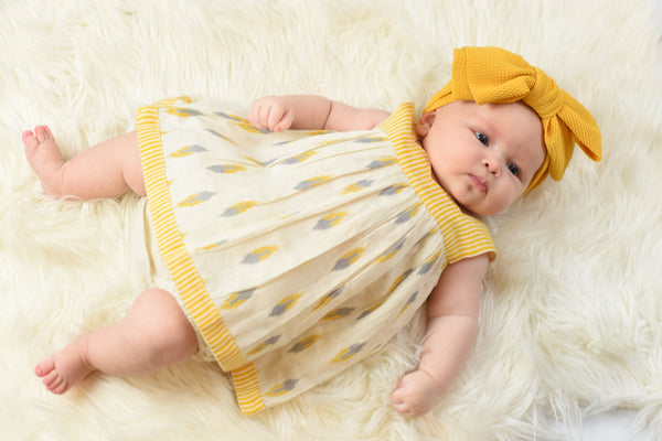 Pin-Stripe Sweet-Heart Dress & Diaper Cover Set Sun Dress Yo Baby Wholesale