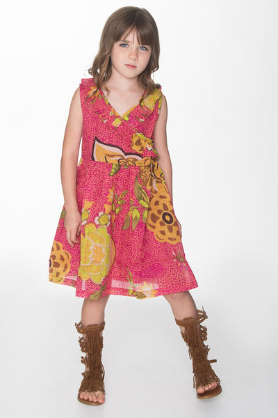 Pink Floral Overlap Dress Dress Yo Baby Wholesale