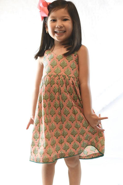 Pink Floral Summer Dress With Lace Dress Yo Baby Wholesale