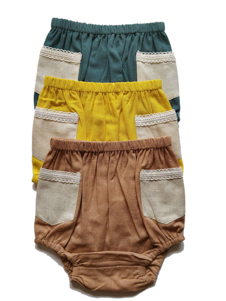 Pocket With Lace Detail Diaper Covers with in Blush, Yellow & Teal diaper covers Yo Baby Wholesale