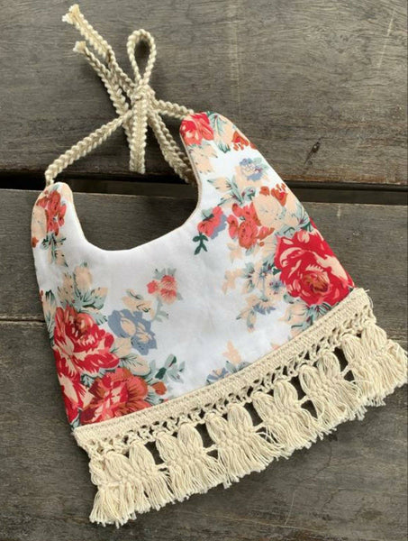 Printed & Solid Reversible Cotton Lace Bib Feeding Set Yo Baby Wholesale