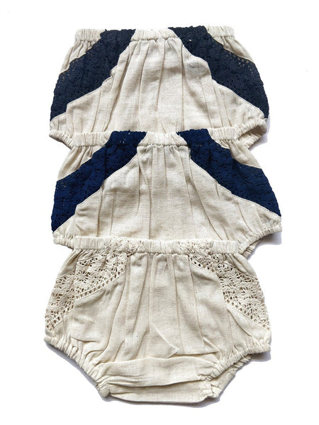 Set of 3 - Lace Diaper Covers in Ivory, Navy & Black diaper covers Yo Baby Wholesale