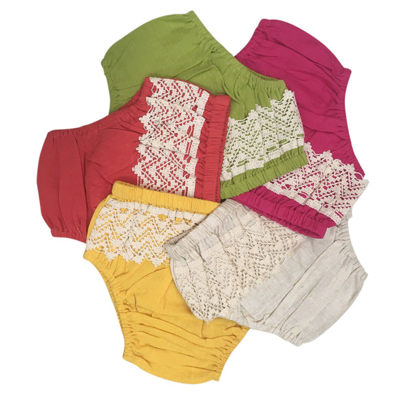 Set of 5 - Diaper Cover with Lace Detail diaper covers Yo Baby Wholesale
