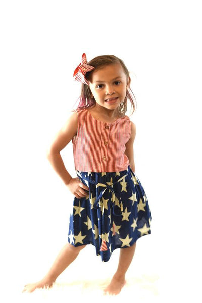 Stars & Stripes Dress Dress Yo Baby Wholesale