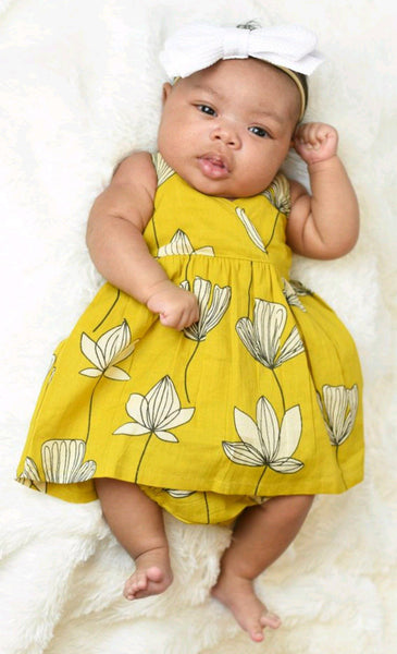 Strappy Floral Dress With Matching Bloomer Dress Yo Baby Wholesale