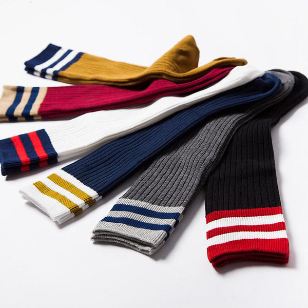 Stripe & Solid Above-The-Knee Socks - Girls Yo Baby India
