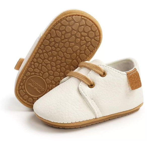Unisex mock Leather moccasins - White Yo Baby Wholesale