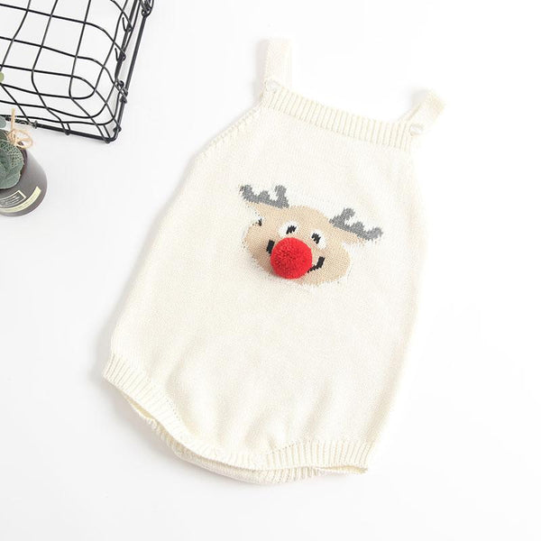 White Rudolph-Reindeer Sweater Onesie - Unisex Dress Yo Baby Wholesale