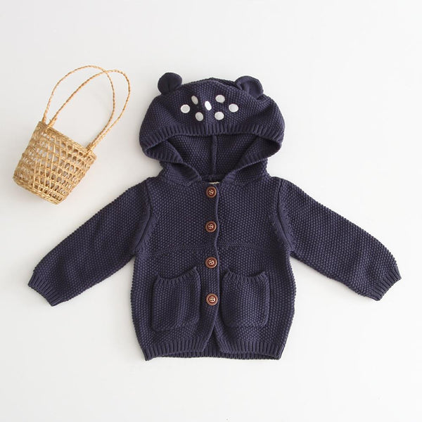Woollen Knit Hoodie Jacket - Unisex Dress Yo Baby Wholesale