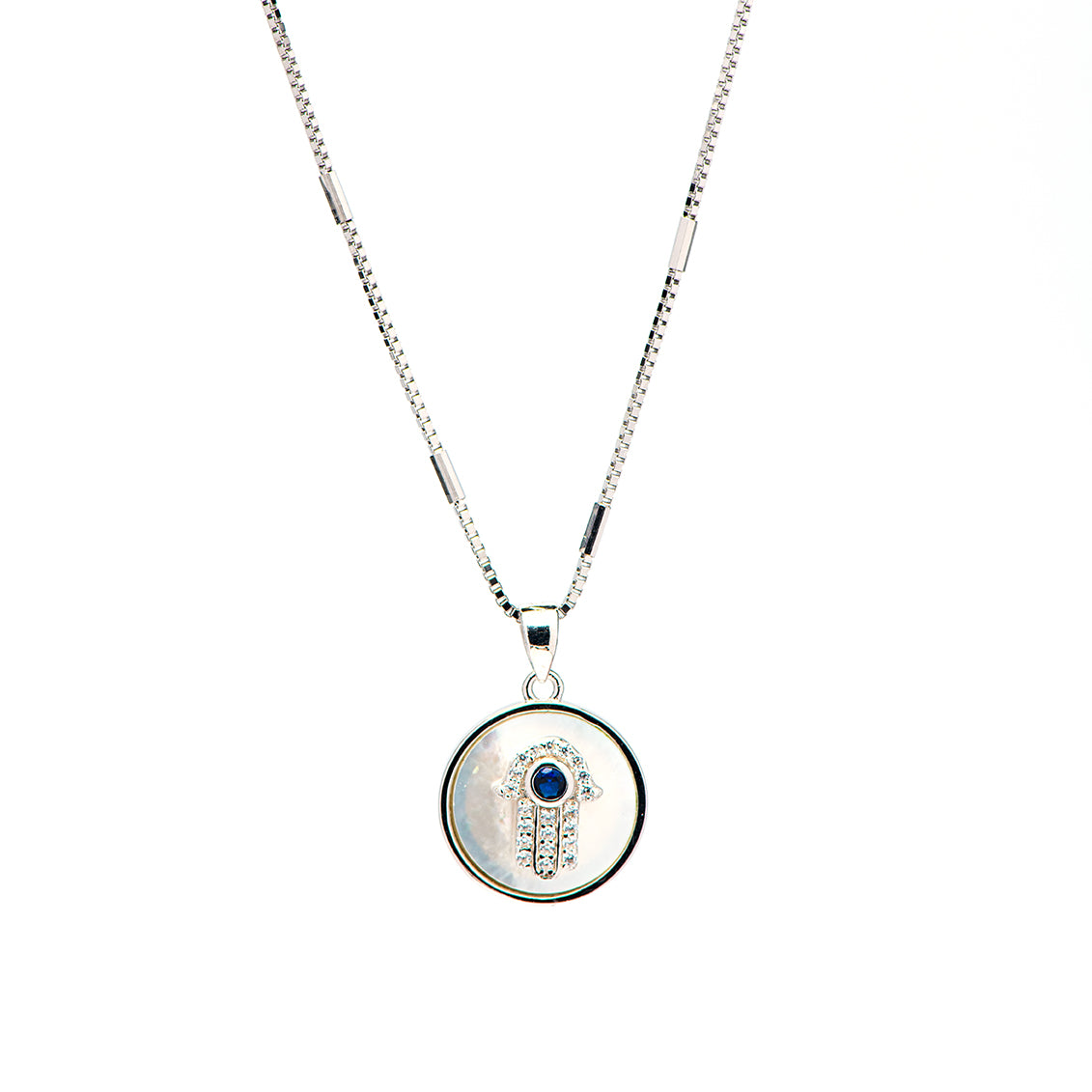 ANAT- Hamsa Necklace with Mother of pearl
