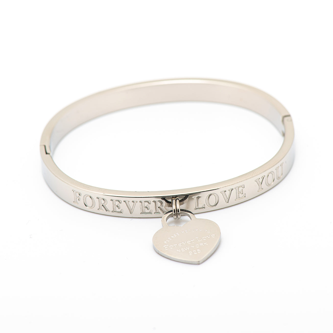 "stainless steel ""FOREVER LOVE YOU"""
