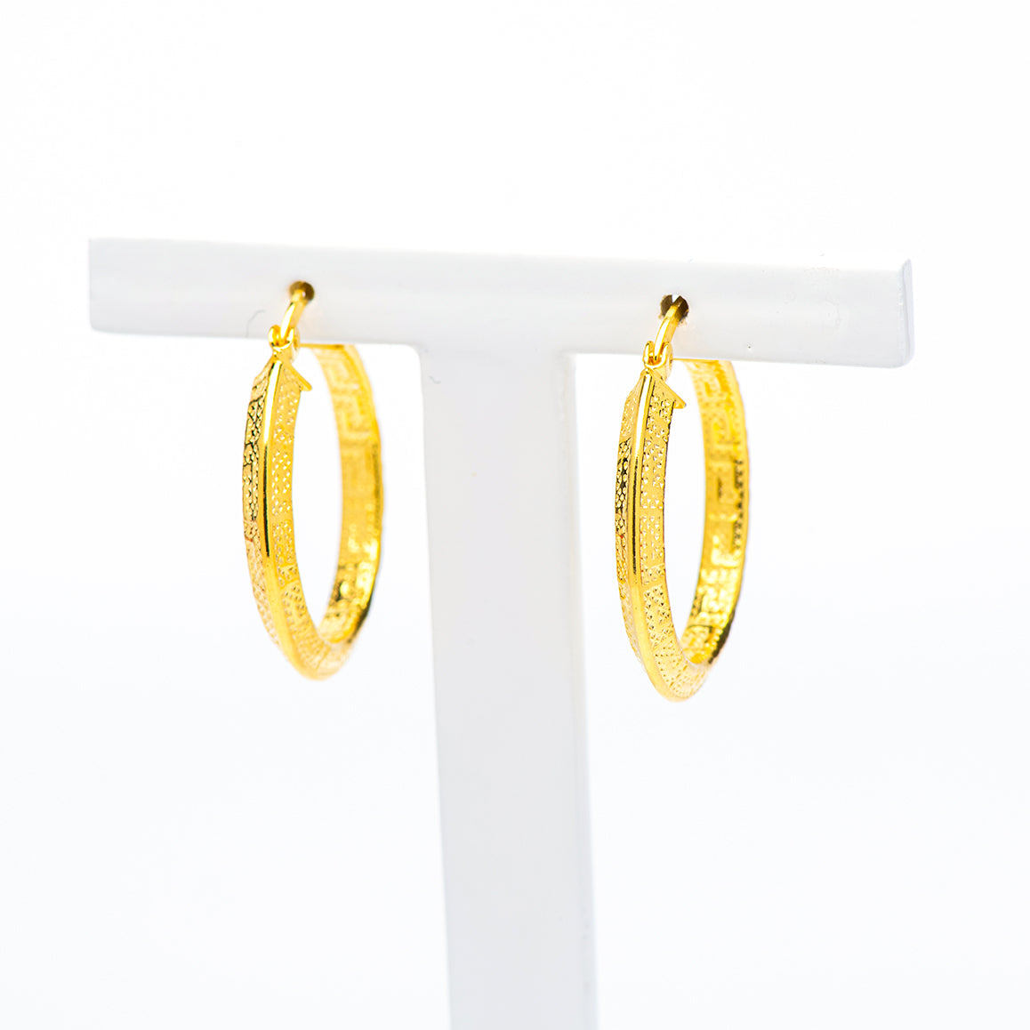 TALI -sterling silver hoops gold Tone