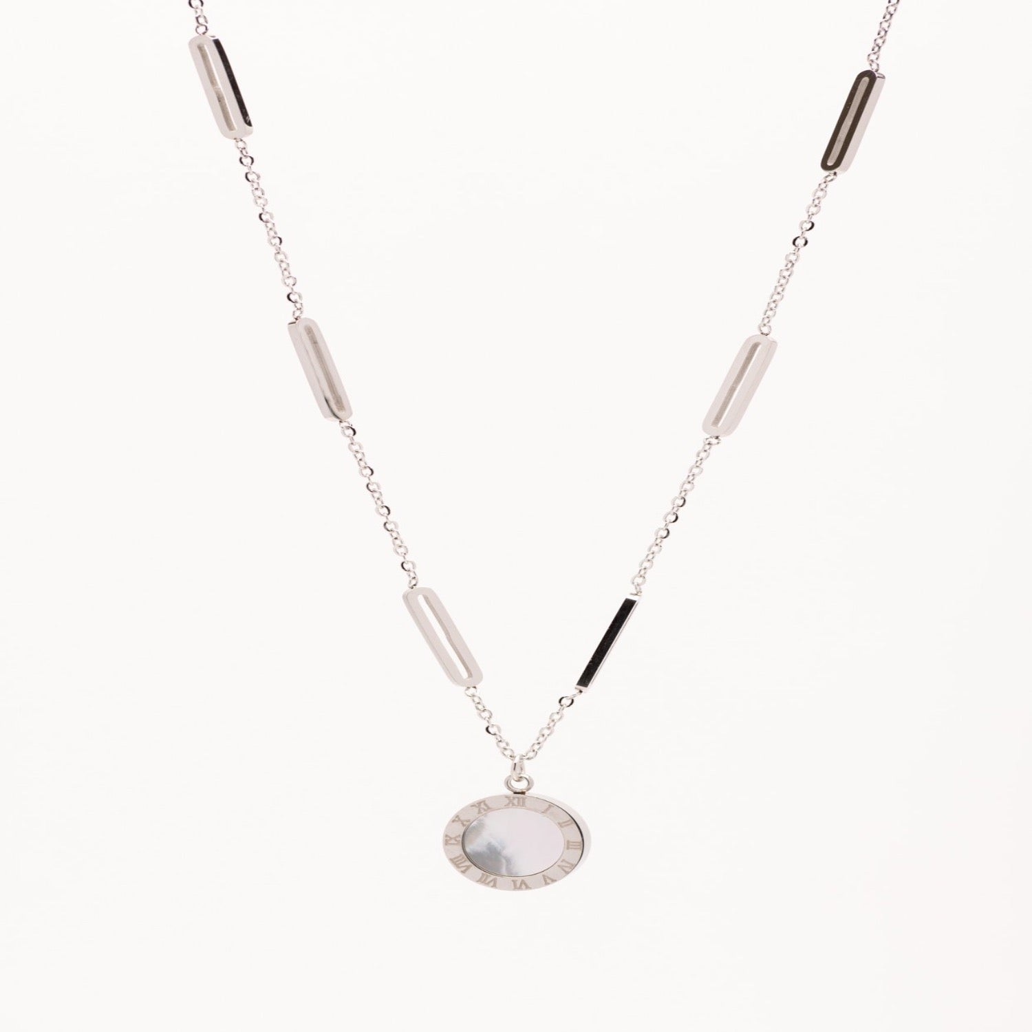 Stainless Steel Mother of Pearl Necklace