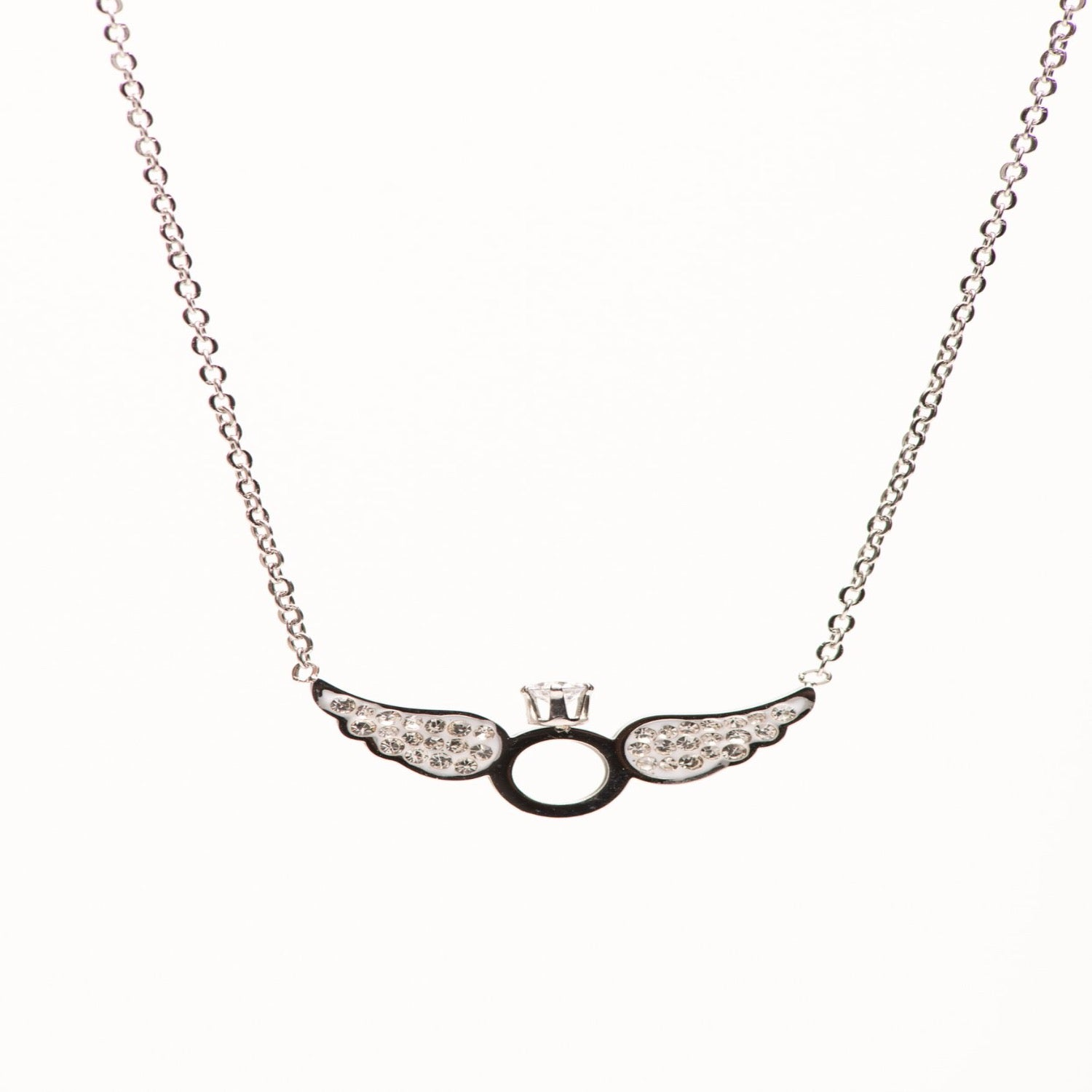 Stainless Steel Angel Ring necklace