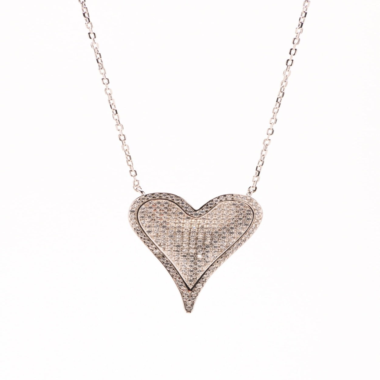Sterling silver microwave heart necklace