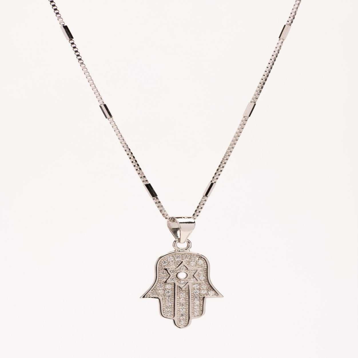 LEAH- Hamsa with Star of David necklace
