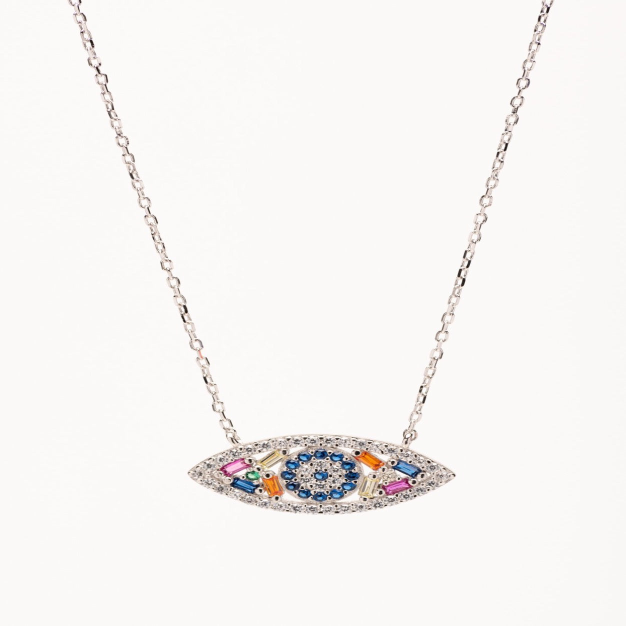 GABRIELLE-multicolore eye necklace