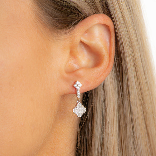 Silver pending Flower Studs