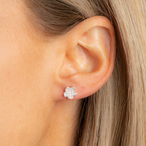 Micropave flower studs.