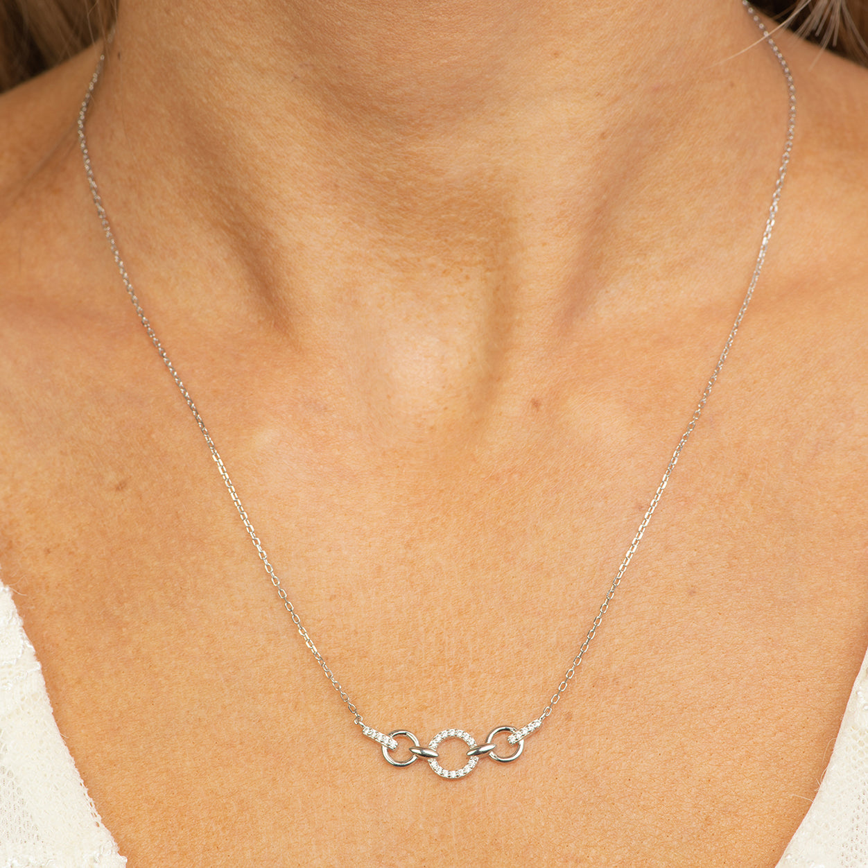 classic silver necklace.