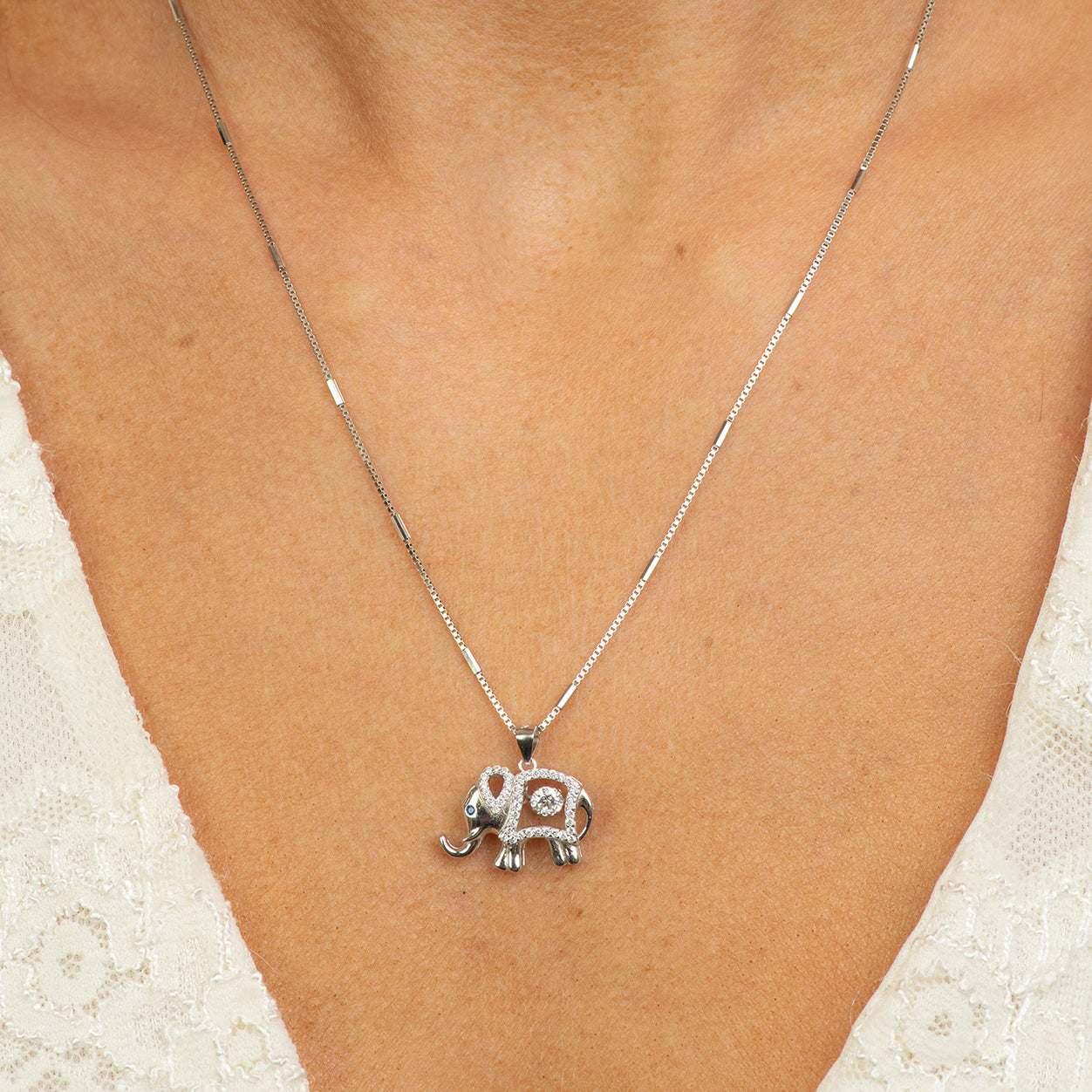 Dancing  D Elephant necklace