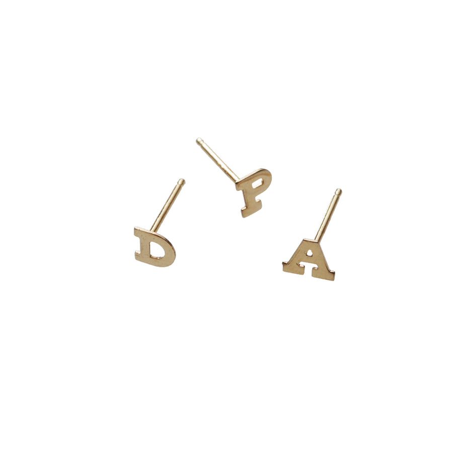 Initial Earrings