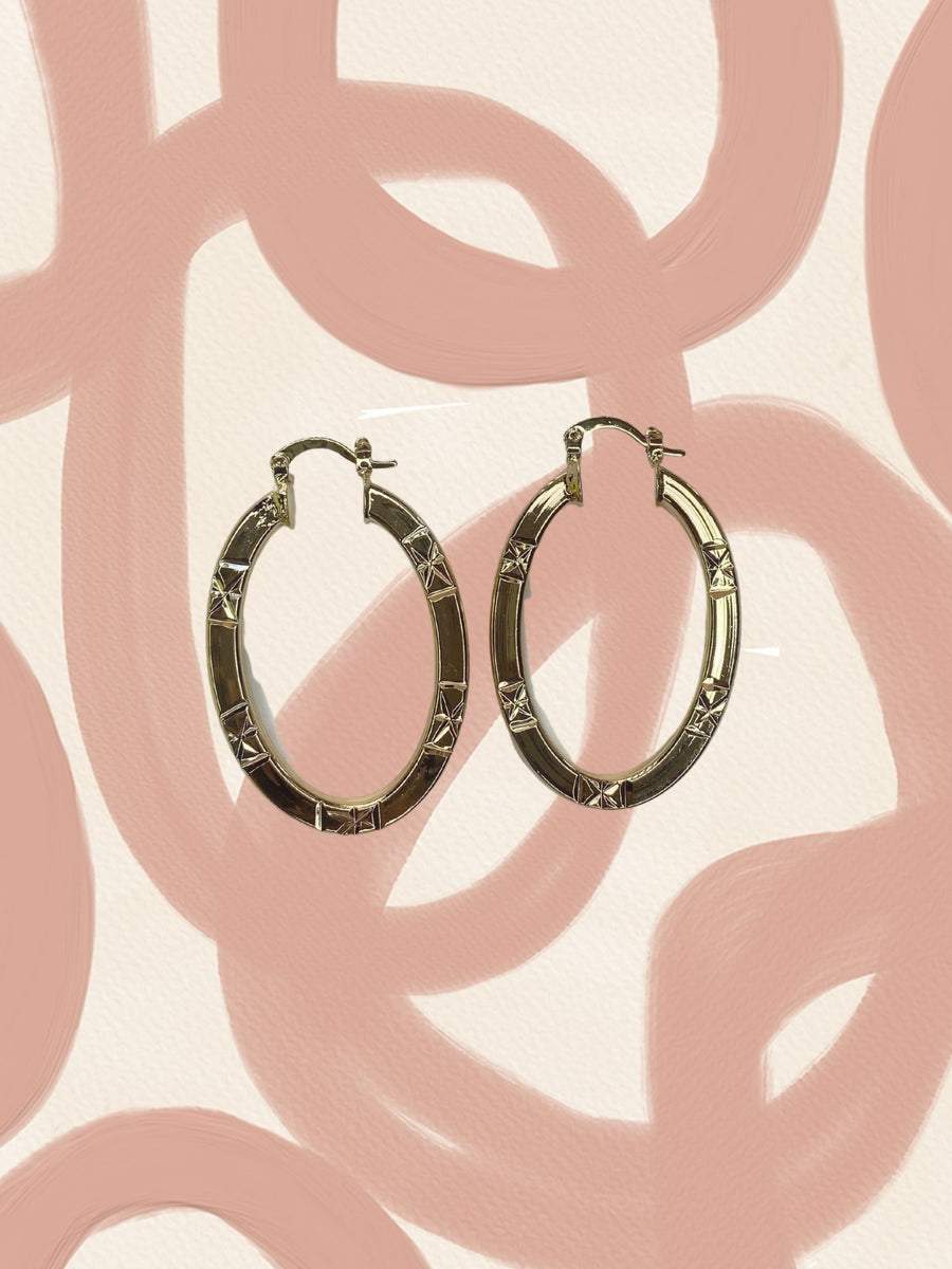 Star Gaze oval hoops