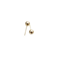 Medium Gold Ball Earring
