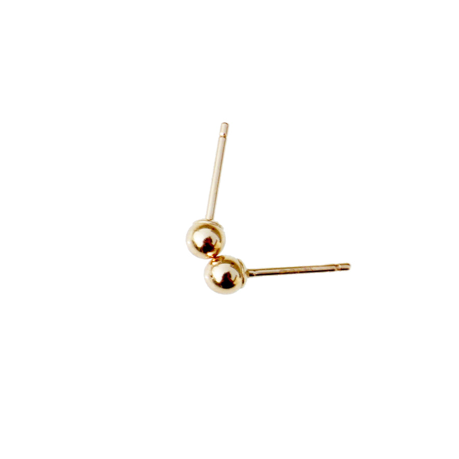 Small Gold Ball Earrings