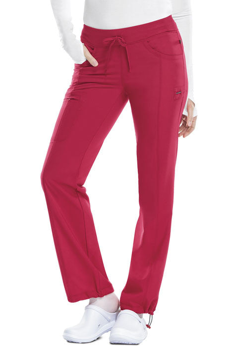 Cherokee Women's Infinity Straight Leg Pant ( Red )
