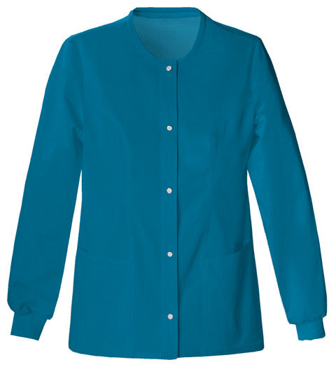 Cherokee Luxe Women's Warm-up Jacket ( Caribbean Blue )