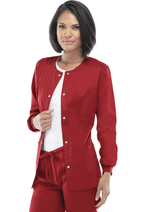 Cherokee Luxe Women's Warm-up Jacket ( Red )