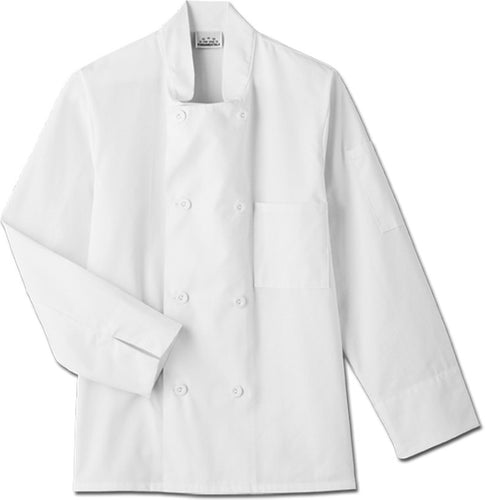 Five Star Long Sleeve Chef Jacket (White)
