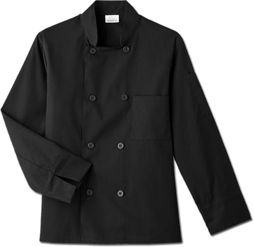 Five Star Long Sleeve Chef Jacket (Black)