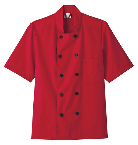 Five Star Unisex Chef Coat Red