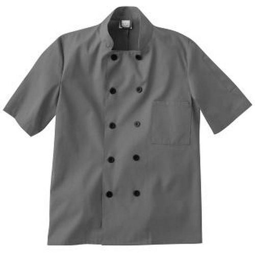Five Star Short Sleeve Chef Jacket (Charcoal)