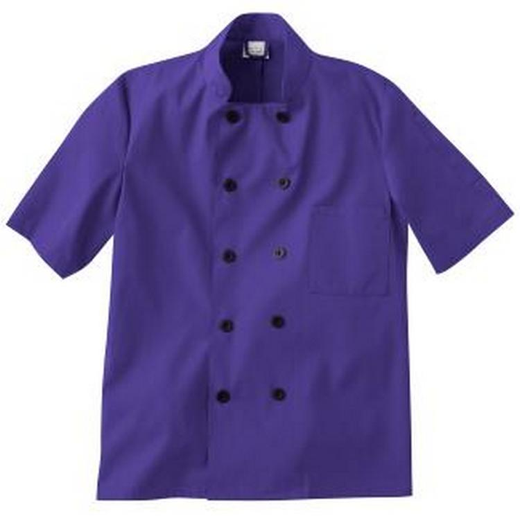 Five Star Unisex Chef Coat Purple
