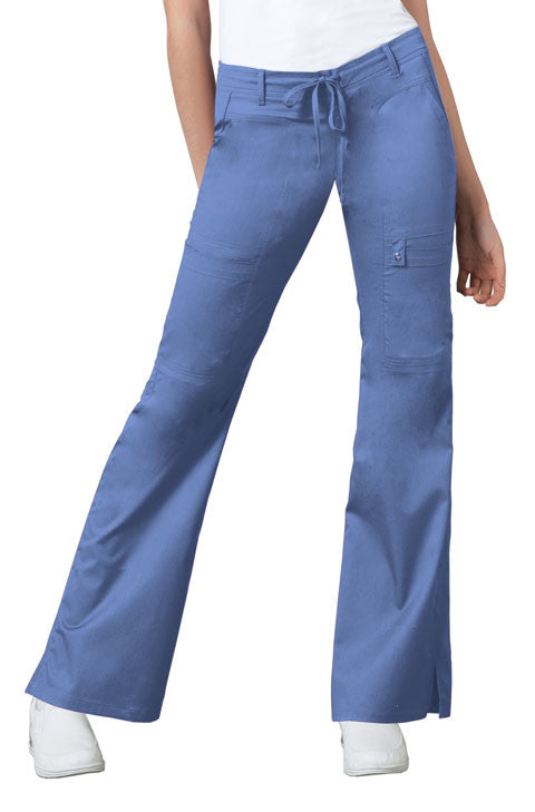 Cherokee Luxe Women's Drawstring Cargo Pant ( Ceil Blue )