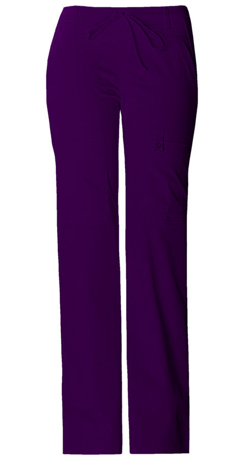 Cherokee Luxe Women's Drawstring Cargo Pant ( Egg Plant )