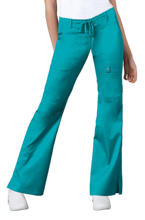 Cherokee Luxe Women's Drawstring Cargo Pant ( Teal )